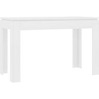 vidaXL Dining Table White 120x60x76 cm Chipboard - White