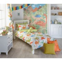Dinosaur Boys Double Quilt Duvet Cover and 2 Pillowcase Bedding Bed Set Kids T-Rex Dino - RIVA