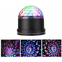 Litzee - Disco Ball, Mirror Ball 12W 51 LEDs 12.5x12.5x13CM Stage Lamp Light Evening Party Light Bulbs String Lights Round Crystal Projector For