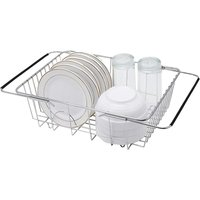 Dish Drainer, Over Sink Dish Drainer, In Sink or Countertop Dish Drainer, Extendable Dish Drainer, Kitchen Dish Drainer