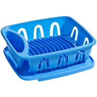 Dish Drainer,Blue Plastic,Removable Tray