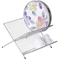 Dish drainer,folding,chrome