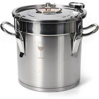3 Gallon Stainless Steel Boiler For Copper Alcohol Distiller - INSMA