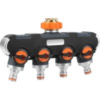 Distributor, 3/4 and 1/2 with Tap Adapter, Suitable for Garden Irrigation and Garden Hose