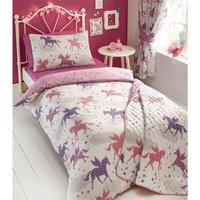 Divine Unicorns Double Duvet Cover Set Children Girls Bedroom Bedding Quilt