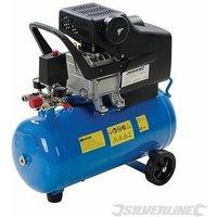 Silverline 2hp Portable Air-Cooled Compressor Garage Workshop DIY 1500W 24Ltr