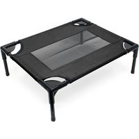 Dog Bed Pet Cot Elevated Outdoor Pet Lounger Black M 77x61x20cm max 20kg - WILTEC