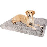 Dog Mat Mattress Bed Cushion Chew Resistant Washable Warm Pet Basket Brown XL(85 x 57 x 10cm) - BINGO PAW