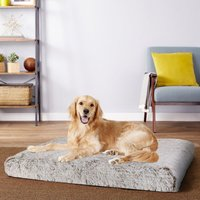 Dog Mat Mattress Bed Cushion Chew Resistant Washable Warm Pet Basket Brown XXXL(127 x 88 x 12cm) - BINGO PAW