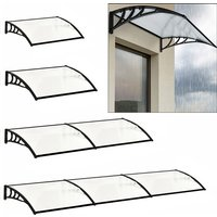 Door Canopy Awning Window Rain Snow Shelter Curved Sheet, Balck 150CM