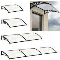 Door Canopy Awning Window Rain Snow Shelter Curved Sheet, Balck 270CM - LIVINGANDHOME
