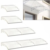 Door Canopy Awning Window Rain Snow Shelter Curved Sheet, White 120CM