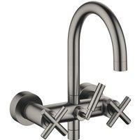 Tara bath mixer for wall mounting, without hose shower set, 240 mm projection, 25100892, colour: dark Platinum matt - 25100892-99 - Dornbracht