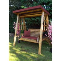 Dorset Two Seat Swing Burgundy - Fully Assembled - CHARLES TAYLOR