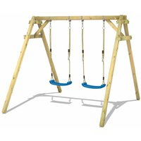 Wooden swing set Smart Move with Climbing extension Childrens swing - Wickey