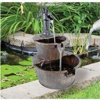 Double Tier Barrel Fountain