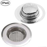 Langray - Drain Strainer, 7CM Stainless Steel Kitchen Sink Shower Tub Sink Filter Strainer, 2PCS Drain Strainer