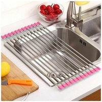 Drainer and / or Foldable Flat Drain, Steel No Non-Slip Folding Drain For Sink Sink - Drying Fruit Vegetables - Can be used as colander and flat rest