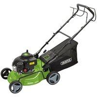 8671 Steel Deck Petrol Lawn Mower, 420mm, 132cc/3.3HP - Draper