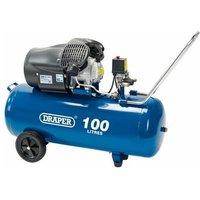 65396 100L V-Twin Air Compressor (2.2kW) - Draper