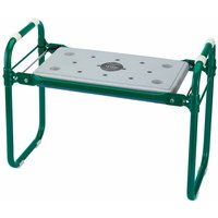 Draper Tools Folding Garden Seat/Kneeler Iron Green 64970 - Green