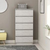 Drawer Sideboard Concrete Grey 60x35x121 cm Chipboard36268-Serial number