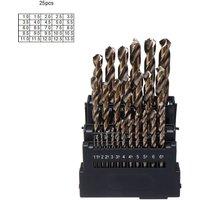 Maerex - Drillpro M42 HSS Twist Drill Bit Set 3 Edge Head 8% High Cobalt Drill Bit for Stainless Steel Wood Metal Drilling 25 PCS