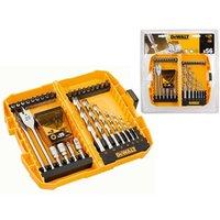 Dewalt DT71501 56 Piece HSS Drill Screwdriver Set Wood Metal Flat Bit Pozi PZ2