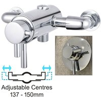 Dual Control Thermostatic Concealed Shower Mixer Valve - 137mm to 150mm Centres - BuyaParcel