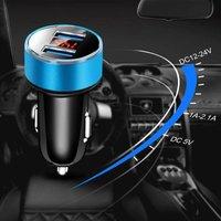 Litzee - Dual Port 3.1A Car Charger Adapter 12V / 27V USB Cigarette Lighter Socket Digital LED Voltmeter for Mobile Phone Tablet Camera and More