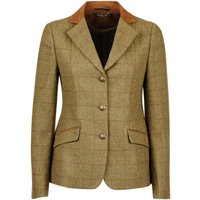 Dublin Childrens/Kids Albany Tweed Suede Collar Tailored Jacket (22in) (Brown)