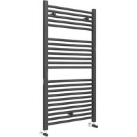 Straight Towel Rail 1110mm H x 600mm W - Matt Black - Duchy