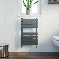 DuraTherm Flat Panel Heated Towel Rail Anthracite - 650mm x 400mm