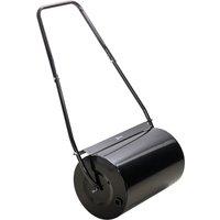 Garden Lawn Roller 38L Steel Push Grass Heavy Duty Rolling Drum Black - Durhand