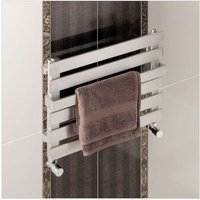 Eastbrook Ascona Steel Chrome Heated Towel Rail 390mm x 500mm Electric Only - Standard