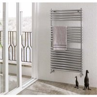 Eastbrook Biava Double Tube on Tube Steel Chrome Heated Towel Rail 600mm x 600mm Electric Only - Thermostatic