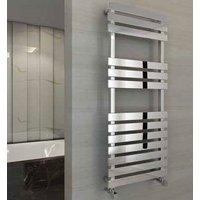 Eastbrook Biava Flat Steel Chrome Heated Towel Rail 1170mm x 600mm Dual Fuel - Standard