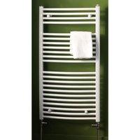 Eastbrook Biava Multirail Steel Chrome Curved Heated Towel Rail 1118mm x 600mm Dual Fuel - Standard