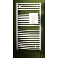 Biava Multirail Steel White Curved Heated Towel Rail 1118mm x 600mm Central Heating - Eastbrook