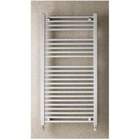 Eastbrook Biava Square Steel Chrome Heated Towel Rail 1200mm x 400mm Dual Fuel - Thermostatic