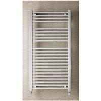 Eastbrook Biava Square Steel Chrome Heated Towel Rail 1800mm x 400mm Dual Fuel - Standard