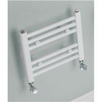 Eastbrook Biava Straight Multirail Steel White Heated Towel Rail 1720mm x 450mm Dual Fuel - Thermostatic