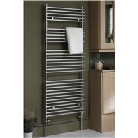 Eastbrook Biava Tube on Tube Steel White Heated Towel Rail 600mm x 600mm Electric Only - Thermostatic