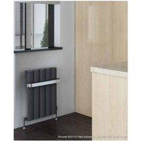 Malmesbury Standard Towel Hanger 375mm Matt Grey - Eastbrook