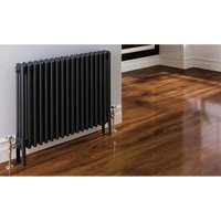Eastbrook Rivassa Steel Matt Anthracite 3 Column Horizontal Radiator 300mm x 1148mm Electric Only - Thermostatic