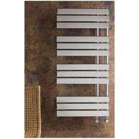 Eastbrook Rizano Steel Chrome Heated Towel Rail 1000mm x 600mm Electric Only - Standard