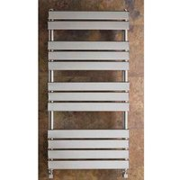 Eastbrook Staverton Tube on Tube Steel White Heated Towel Rail 1800mm x 500mm Electric Only - Thermostatic