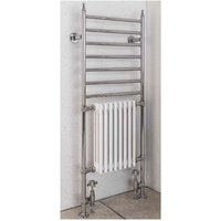 Eastbrook Thames Chrome Traditional Heated Towel Rail 1444mm x 630mm Electric Only - Thermostatic