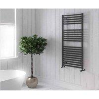 Eastbrook Velor Straight Aluminium Towel Rail 1200mm x 500mm Matt Anthracite - Electric Only