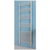 Eastbrook Wendover Straight Steel White Heated Towel Rail 600mm x 400mm Dual Fuel - Thermostatic